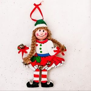 Elf with Bell Ornaments